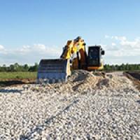Продолжается строительство дорог Промышленного парка