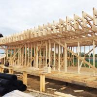 Продолжается строительство контрольно-пропускного пункта и офиса управляющей компании