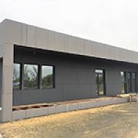 Завершается строительство КПП и офиса управляющей компании